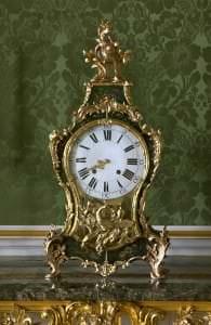 Pulkstenis, Francija, Šomona, 18.gs.3.cet., meistars K. de Miņerols (C.de Mugnerol).