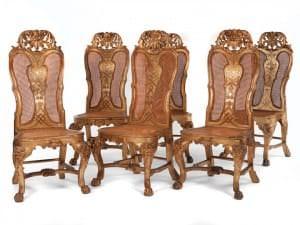 Krēsli (8). Itālija, 18. gs. 1. puse