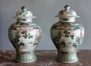 Vāzes. Ķīna, Kansī periods, 18. gadsimta sākums