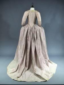 Angļu stila kleita. Francija, no 1770-1780. g.