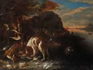 Adriāns de Greifs. Medību trofeja. Flandrija, ap 1700. gadu