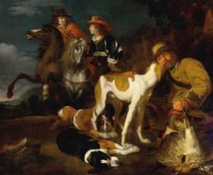 Juriāns Jakobss. Mednieki ar suņiem. Holande, 1647. gads