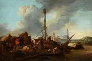 Filips Vauvermans. Tirgotāji ostā. Holande. 17. gs. vidus