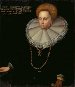 Герцогиня Елизавета Магдалена. Неизвестный художник. Германия, начало 17 века. Находится в экспозиции Рундальского дворца-музея «От готики до стиля модерн»