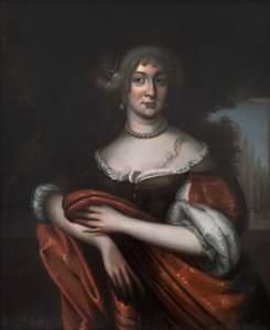 Курляндская герцогиня София Амалия. Неизвестный художник. Копия начала 18 века. Шведский национальный музей, замок Грипсхольм