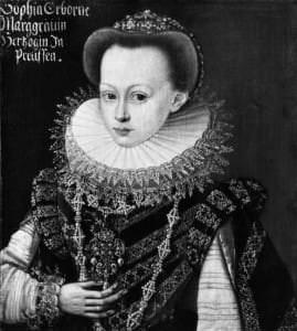 Портрет Бранденбургской принцессы Софии. Д. Розе. Приблизительно 1606 год