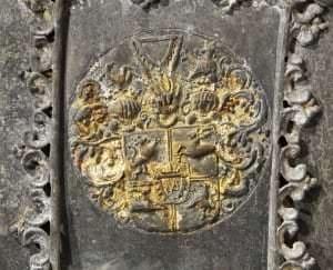 Герб Курляндии на саркофаге принца Владислава Людвига Фридриха