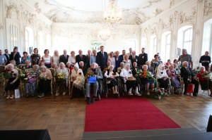 Pirmais Latvijas simtgadnieku salidojums /15.07.2017./