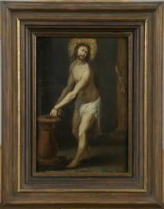 Heironīma Frankena II sekotājs. Kristus pie kolonas. Flandrija, 17.gs.sākums.