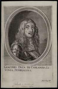 Kurzemes hercogs Jēkabs. Morica Langa gravīra. Austrija, 17. gs. vidus