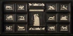 Kabinets ar ziloņkaula inkrustācijām. Dienvidvācija, 17. gs. 1. puse