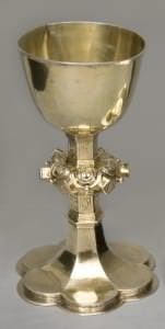 Svētā Vakarēdiena kauss gotiskā formā. Kurzeme (?), 1646