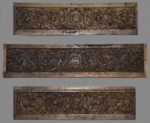 Cassone pildiņi ar renesanses arabeskas ornamentu. Itālija, 16. gs. vidus