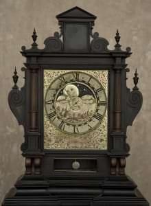 Astronomiskais galda pulkstenis. Vācija, Nirnberga, Kaspars Bušmans, 17. gs. sākums