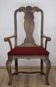 Krēsls ar riekstkoka imitāciju. Kurzeme, 18. gs. 2. ceturksnis