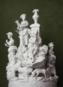 """Figurāla grupa """"Gani – muzikanti"""". Francija, Parīze, """"La Courtille"""". Ap 1780"""