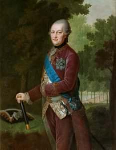 Герцог Курляндии Пётр. Ф. Г. Баризьен. Курляндия, 1781 год