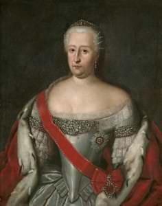 Kurzemes hercogiene Benigna Gotlība. Nezināma mākslinieka kopija pēc L. Karavaka gleznas. 18. gs. 30. gadi