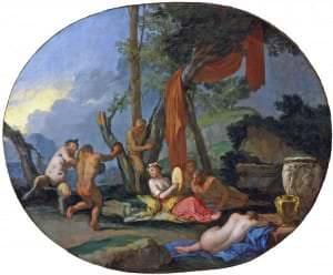 Džulio Karpioni. Fauni un bakhnantes. Itālija, 17.gs.vidus.