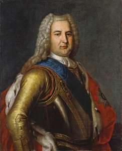 Kurzemes hercogs Ernsts Johans. Nezināma mākslinieka kopija pēc L. Karavaka gleznas. 18. gs. 30. gadi