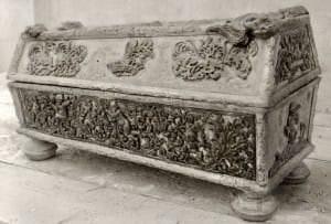 Hercoga Frīdriha Kazimira meitas sarkofāgs. 1934. gada fotogrāfija