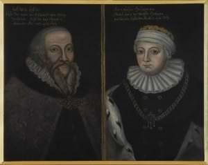 Kurzemes hercogs Gothards un hercogiene Anna. Nezināms mākslinieks pēc 16. gs. 2. puses oriģināla. Kurzeme, 17. gs.