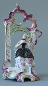 """Porcelāna figūra """"Sieviete lapenē"""". Vācija, Hehstas manufaktūra, ap 1760. gadu"""
