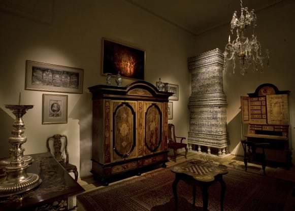 Telpa ar vēlā baroka priekšmetiem