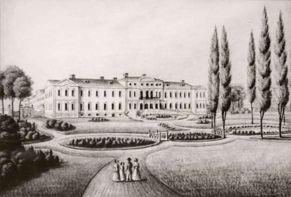 Rundale  litografija 1820 gadi