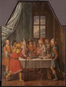 """Nezināms mākslinieks. Latvija, Bauska. Altārglezna """"Pasā maltīte"""". 16.gs.b."""